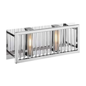 Gemini Crystal Two-Light Bath Fixture