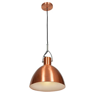 Essence Brushed Copper One-Light 12-Inch Pendant