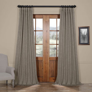 Grey Mink 96 x 50 In. Faux Linen Blackout Curtain Single Panel