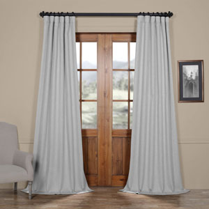 Heather Grey 96 x 50 In. Faux Linen Blackout Curtain Single Panel