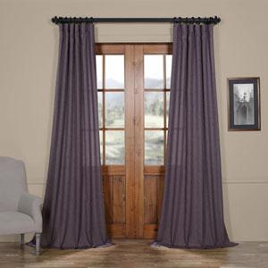 Stormy Purple 96 x 50 In. Faux Linen Semi Sheer Curtain Single Panel