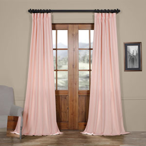 Baby Pink 96 x 50 In. Faux Linen Semi Sheer Curtain Single Panel