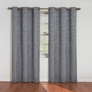 Meridian River Blue Blackout Window Curtain Panel