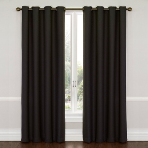 Wyndam Jet Black 52-Inch x 63-Inch Blackout Window Curtain Panel