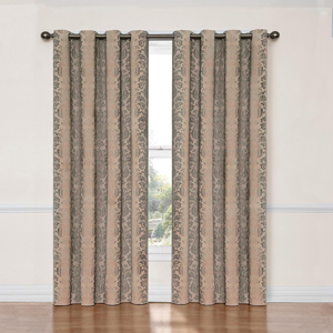 Nadya Linen 52-Inch x 63-Inch Blackout Window Curtain Panel