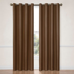 Dane Chocolate 52-Inch x 95-Inch Blackout Window Curtain Panel