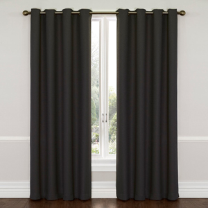 Wyndam Charcoal 52-Inch x 84-Inch Blackout Window Curtain Panel