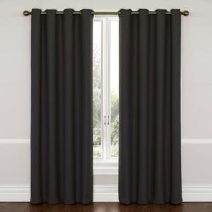 Wyndam Charcoal 52-Inch x 95-Inch Blackout Window Curtain Panel