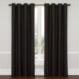 Wyndam Jet Black 52-Inch x 95-Inch Blackout Window Curtain Panel