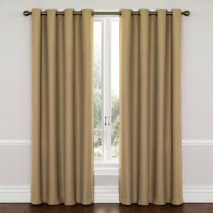 Wyndam Latte 52-Inch x 95-Inch Blackout Window Curtain Panel