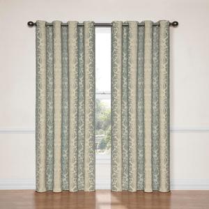 Nadya Smokey Blue 52-Inch x 95-Inch Blackout Window Curtain Panel