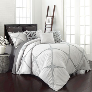 Cersei Cream Twin Three-Piece Comforter Set