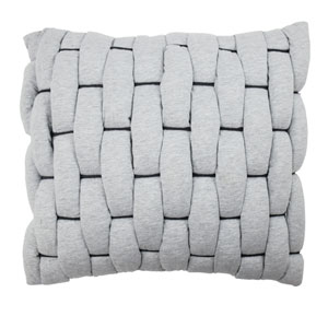 Cersei Grey 18-Inch Decorative Pillow