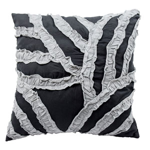 Cersei Dark Grey 16-Inch Decorative Pillow