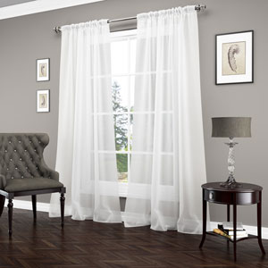Signature Carrington Luxury 95 x 52-Inch Window Sheer