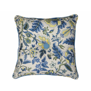 Imperial Dress Porcelain Garden Path 18-Inch Square Button Tufted Pillow