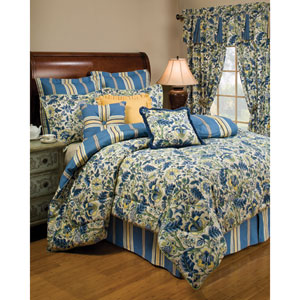 Imperial Dress Porcelain Four-Piece Queen Comforter Set