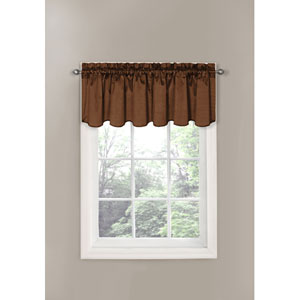 Canova Chocolate Blackout Window Valance