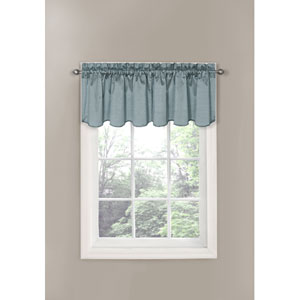Canova River Blue Blackout Window Valance