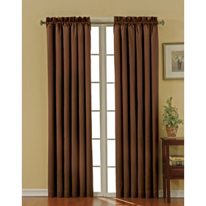 Canova Chocolate 42-Inch x 84-Inch Blackout Window Curtain Panel