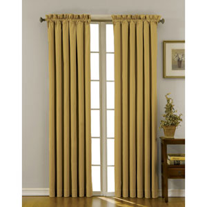 Canova Gold 42-Inch x 84-Inch Blackout Window Curtain Panel