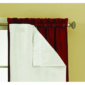 Thermaliner White 80-Inch Long Blackout Window Curtain Pair