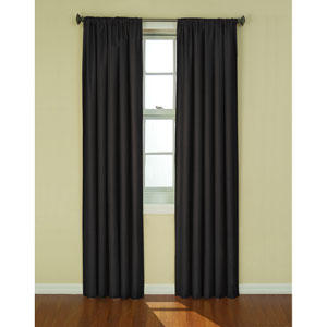 Kendall Black 42-Inch x 84-Inch Blackout Window Curtain Panel