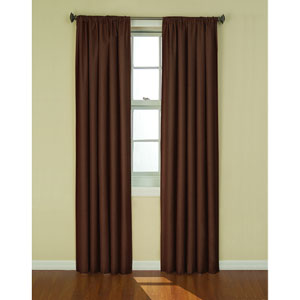 Kendall Chocolate 42-Inch x 84-Inch Blackout Window Curtain Panel