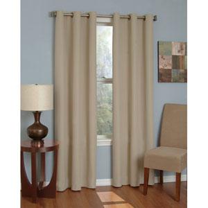 Microfiber Beige 42-Inch x 84-Inch Grommet Blackout Window Curtain Panel