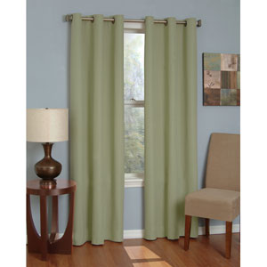 Microfiber Moss 42-Inch x 84-Inch Grommet Blackout Window Curtain Panel