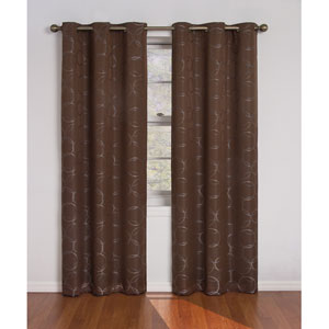 Meridian Chocolate 42-Inch x 84-Inch Blackout Window Curtain Panel