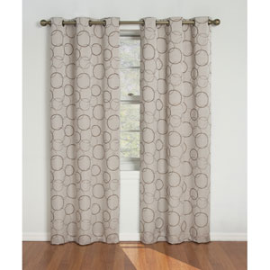 Meridian Linen 42-Inch x 84-Inch Blackout Window Curtain Panel