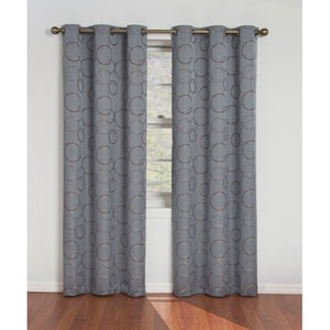 Meridian River Blue 42-Inch x 84-Inch Blackout Window Curtain Panel