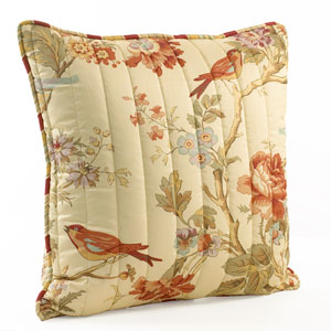 Charleston Chirp Quilted 20-Inch pillow