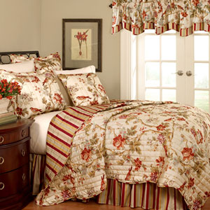 Charleston Chirp Three-Piece Twin Quilt Set