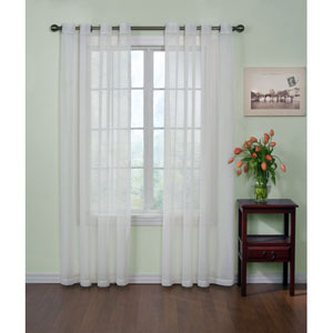 White 59-Inch x 84-Inch Odor-Neutralizing Sheer Voile Grommet Curtain Panel