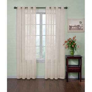 Ivory 59-Inch x 108-Inch Odor-Neutralizing Sheer Voile Grommet Curtain Panel