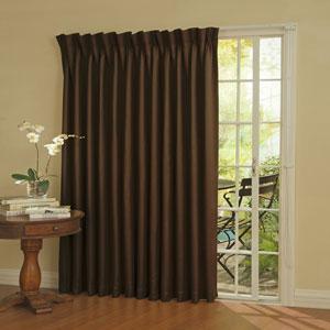 Patio Door Espresso Thermal Blackout Curtain Panel
