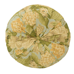 Garden Glory 16-Inch Round Decorative Pillow