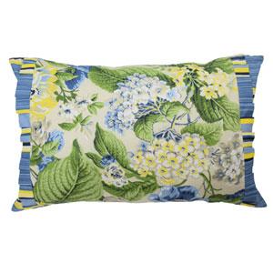 Floral Flourish Porcelain 14 x 22-Inch Decorative Pillow