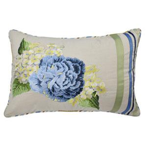 Floral Flourish Porcelain 14 x 20-Inch Decorative Pillow