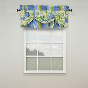 Floral Flourish Porcelain 21 x 52-Inch Window Valance