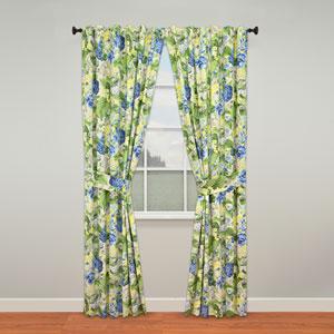Floral Flourish Porcelain 84 x 50-Inch Curtain Panel Pair