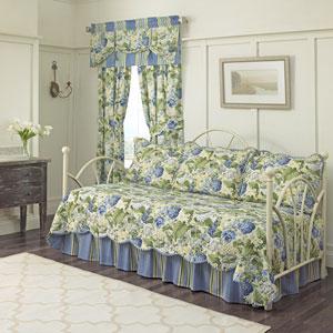 Floral Flourish Porcelain Five-Piece Daybed Quilt Set