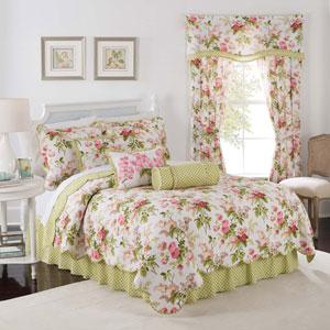 Emmas Garden Blossom Three-Piece Twin Quilt Set