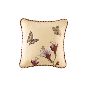 Laurel Springs Multicolor Embroidered Accent Pillow
