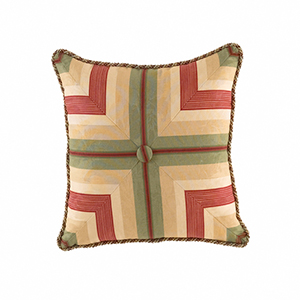 Laurel Springs Multicolor Button Tufted Accent Pillow