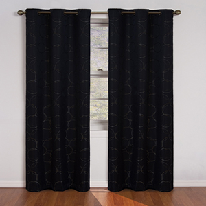 Meridian Black Window Curtain Panel