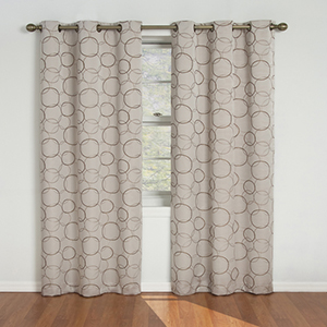 Meridian Linen Blackout Window Curtain Panel