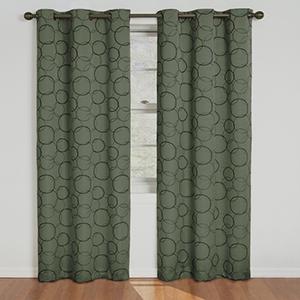 Meridian Sage Blackout Window Curtain Panel